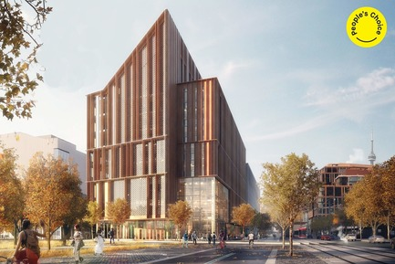 Press kit | 809-28 - Press release | Announcing the Winners of the 2019 AZ Awards - AZURE - Competition - Best in Unbuilt Buildings Winner:<br><br>Moriyama &amp; Teshima Architects (Canada) and Acton Ostry Architects (Canada): 'The Arbour' George Brown College Tall Wood Building, Toronto, Ontario, Canada (People's Choice) - Photo credit: AZURE