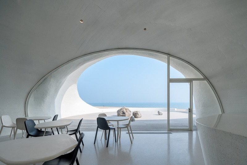 Press kit | 3976-01 - Press release | 2019 AZ Awards Winner: UCCA Dune Art Museum - OPEN Architecture - Institutional Architecture -  Cafe  - Photo credit: WU Qingshan