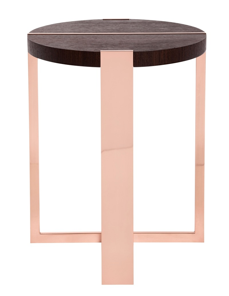 "Press kit | 3701-01 - Press release | Powell & Bonnell Launch 10 New Products - Powell & Bonnell - Product - <p class="""">Trocadero Cocktail Table </p><p class="""" style=""""> <br></p><p class="""">Depending upon from which angle it is viewed the ""Trocadero"" table reveals a decidedly different persona. Its metal frame solidly grips the top while at the same time bisecting it. </p> - Photo credit: Margaret Mulligan"