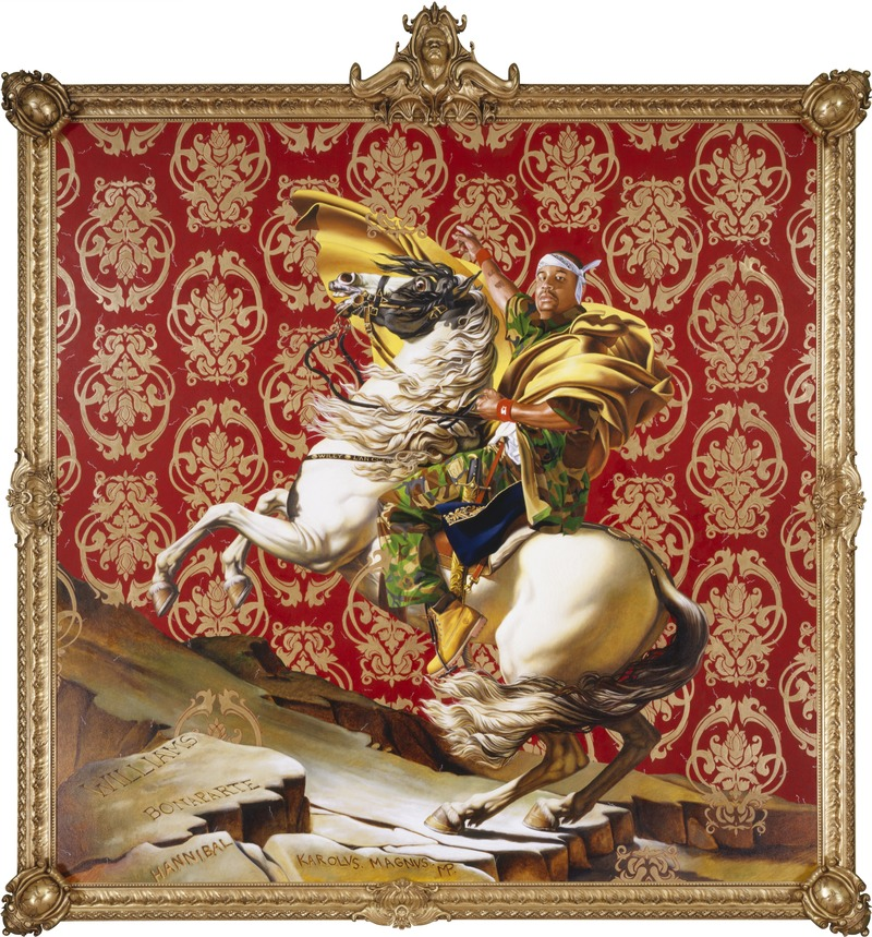 "Dossier de presse | 3033-04 - Communiqué de presse | Creative Studio and Foundry UAP to Fabricate Kehinde Wiley's First Public Sculpture 'Rumors of War' - UAP - Art -  Napoleon Leading the Army Over the Alps   - Crédit photo : <p class="""">© 2005 Kehinde Wiley</p><p class="""">Courtesy of Brooklyn Museum </p>"