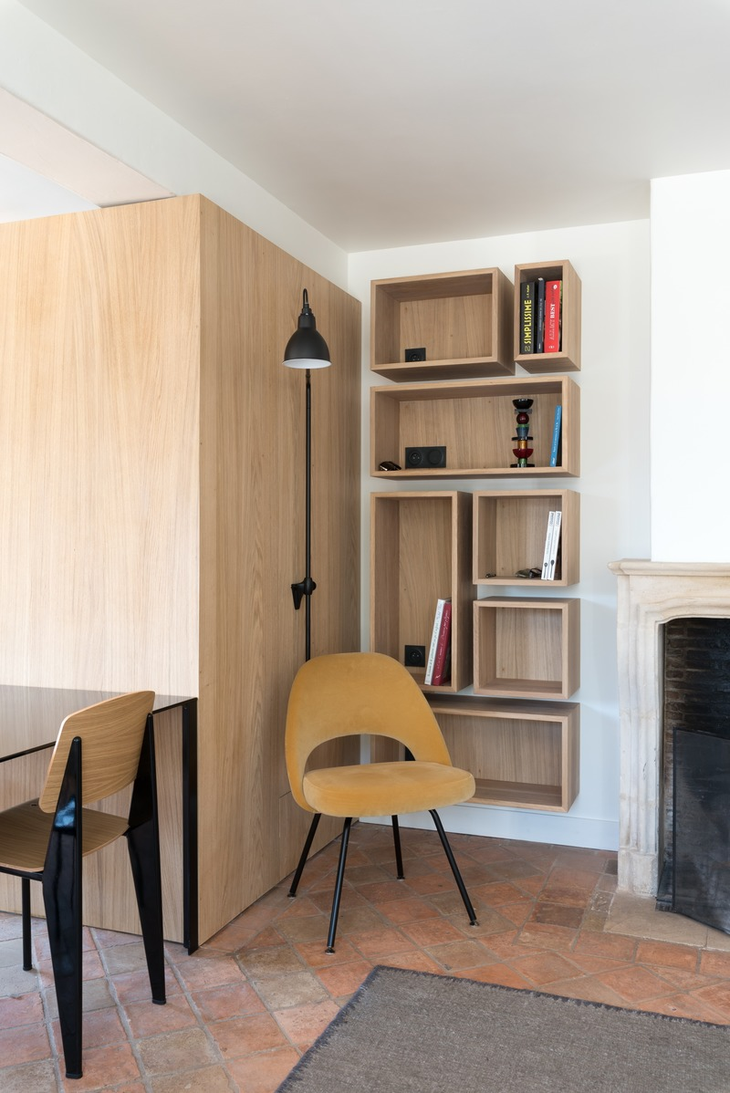 Press kit | 2180-03 - Press release | Seaside House - Martins | Afonso atelier de design - Residential Interior Design - Bookcase - Photo credit: Mickaël Martins Afonso