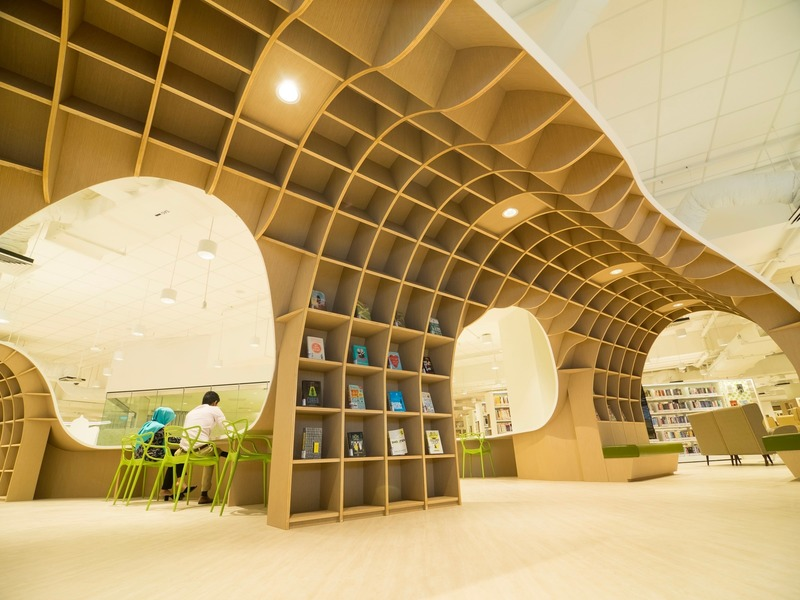 Press kit | 1080-29 - Press release | INSIDE 2019 Shortlist Reveals most Insta-friendly Designs - INSIDE: World Festival of Interiors - Competition - Bedok Public Library by ONG&ONG - Photo credit: ONG&ONG and National Library Board