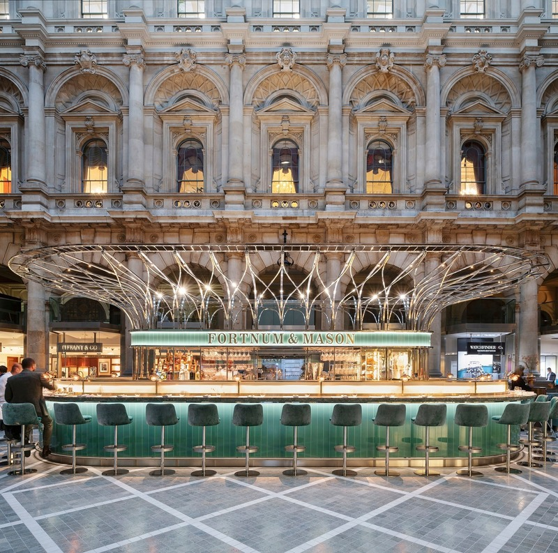Press kit | 1080-29 - Press release | INSIDE 2019 Shortlist Reveals most Insta-friendly Designs - INSIDE: World Festival of Interiors - Competition - The Fortnum's Bar and Restaurant at The Royal Exchange by Universal Design Studio  - Photo credit: Andrew Meredith