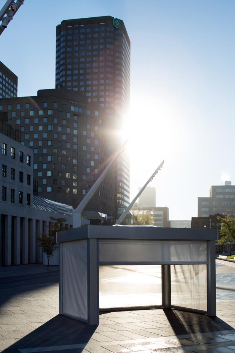 Press kit | 688-06 - Press release | Jardin de Ville Unveils its New Garden Pavilions for Summer 2019 - Jardin de Ville - Industrial Design - Square One - Photo credit:  Adrien Williams