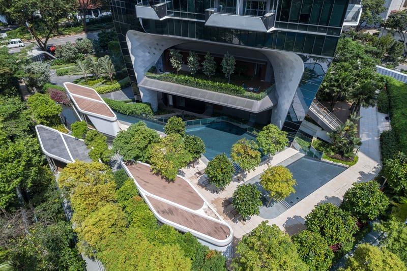 Dossier de presse | 1028-13 - Communiqué de presse | 2019 Shortlist Announced for ABB LEAF Awards - Arena International Group - Architecture industrielle - The Scotts Tower, Singapore - Crédit photo : UNStudio