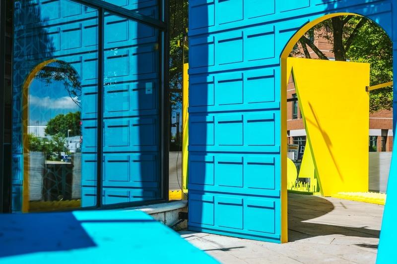 Dossier de presse | 2402-03 - Communiqué de presse | Passages Insolites 6e édition - EXMURO arts publics - Art - Bercer d'utopies - Collectif 5M2 (Québec) - Crédit photo : Stéphane Bourgeois