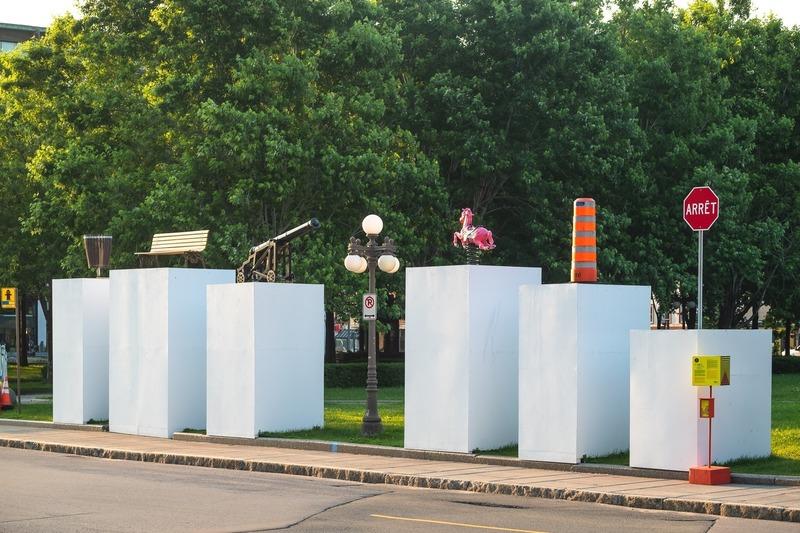 Dossier de presse | 2402-03 - Communiqué de presse | Passages Insolites 6e édition - EXMURO arts publics - Art - Sur le même pied d'égalité - Guillaume La Brie (Montréal) - Crédit photo : Stéphane Bourgeois