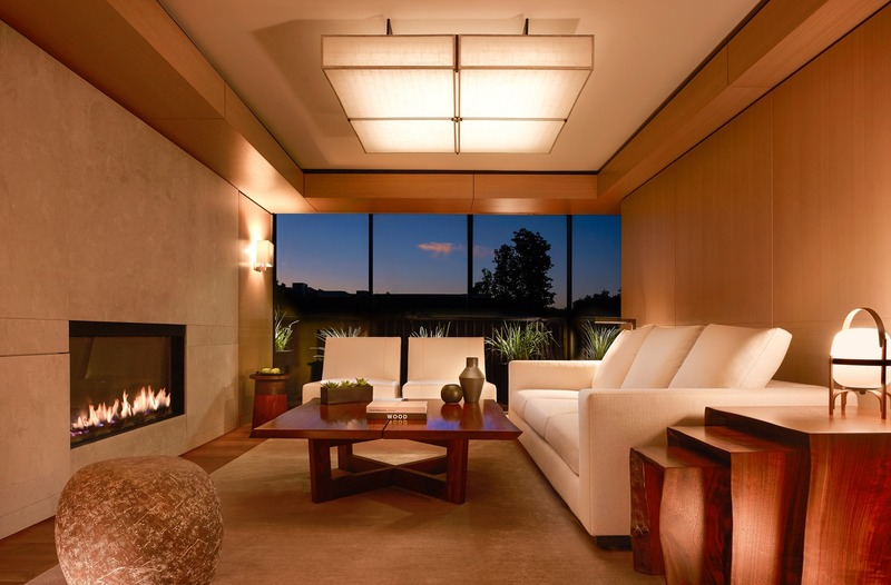 Press kit | 2757-10 - Press release | Montalba Architects Unveils New Hospitality Projects - Montalba Architects - Commercial Architecture - The lobby at night reflects the hotel's ethos of unpretentious luxury which draws on signature Nobu design elements combined with traditional Japanese materials.<span></span> - Photo credit: Barbara Kraft