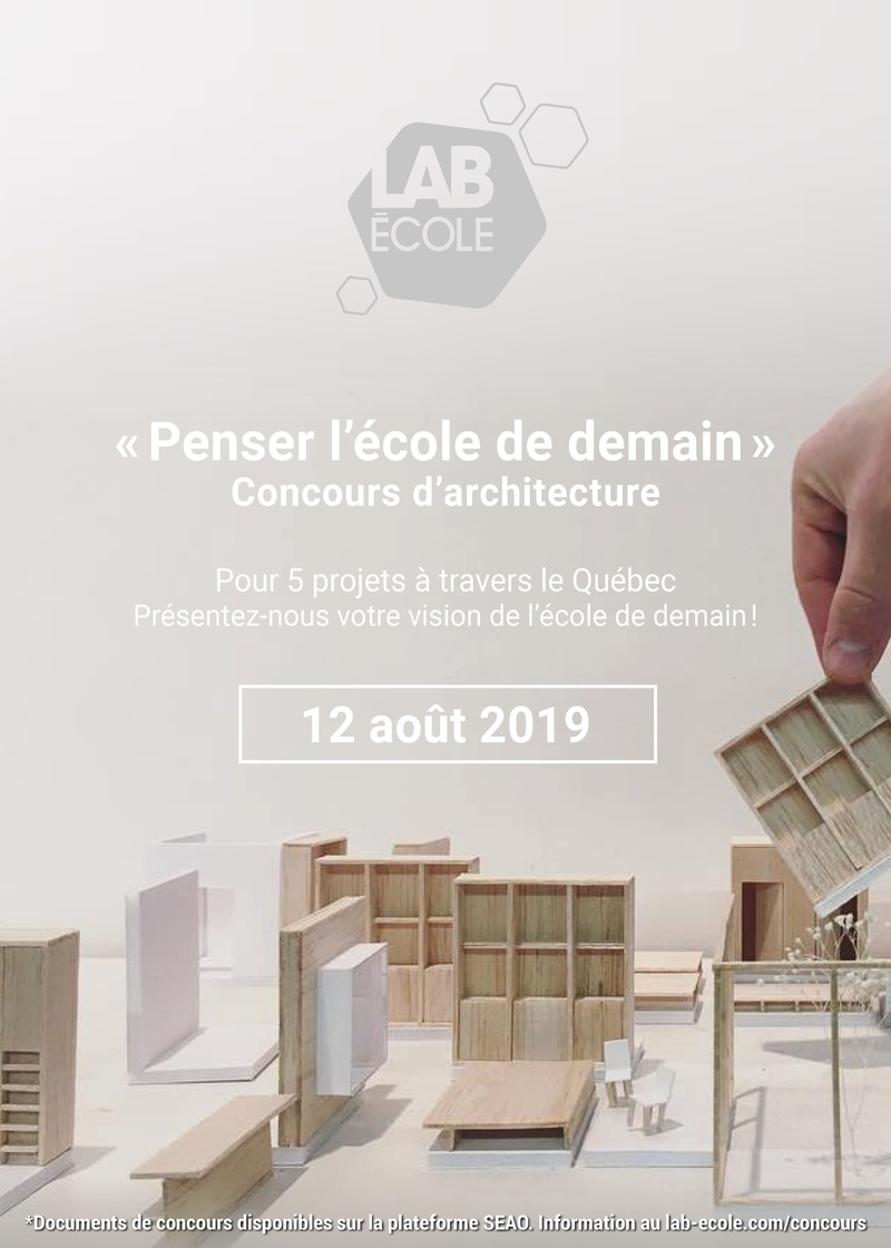 Press kit | 4169-01 - Press release | Lab-École Officially Announces the Launch of Its Architecture Competition - Lab-École - Institutional Architecture - Photo credit: Lab-École