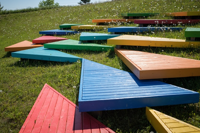 Press kit | 837-33 - Press release | The International Garden Festival Celebrates its 20th Edition - Playgrounds - International Garden Festival / Reford Gardens - Landscape Architecture - Ici et ailleurs<br>José Luis Torres<br>– Montmagny (Québec) Canada  - Photo credit: Martin Bond