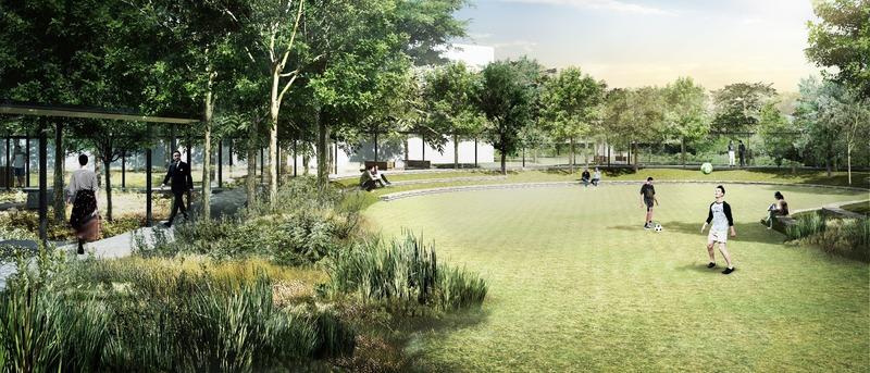 Dossier de presse | 4015-01 - Communiqué de presse | Nong Fab LNG Receiving Terminal - TK Studio Co.,Ltd. - Architecture de paysage - Detention Lawn / Multipurpose Lawn area - Crédit photo : TK Studio