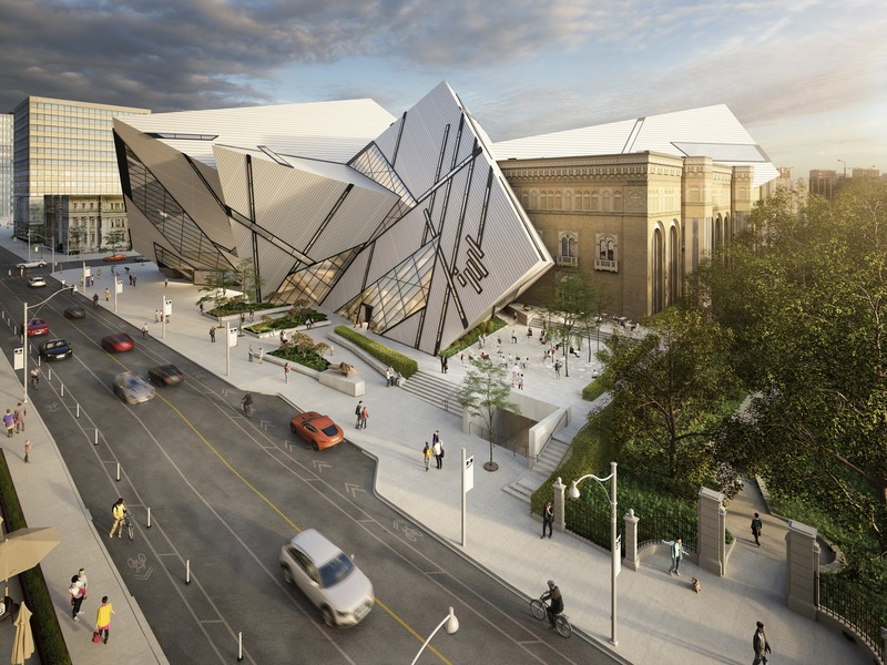 Press kit | 907-09 - Press release | ROM Welcome Project - Hariri Pontarini Architects - Institutional Architecture - The ROM Welcome Project aerial render. - Photo credit: Hariri Pontarini Architects