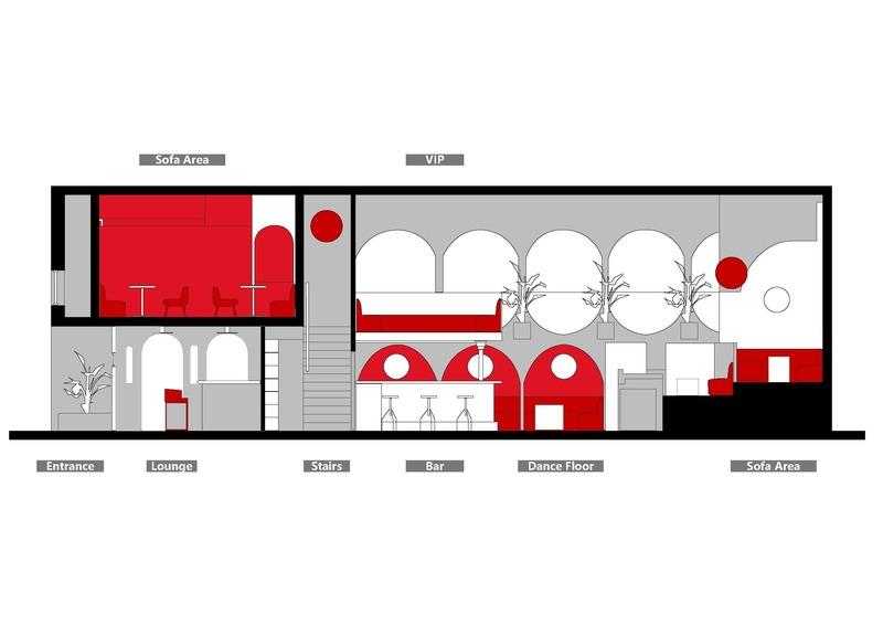 Dossier de presse | 4178-01 - Communiqué de presse | A Styled Bar in Wuhan Commercial Street - J.H Architecture - Design d'intérieur commercial - Crédit photo : J.H.Architecture