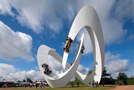 Press kit | 1022-01 - Press release | Lotus sculpture for the Goodwood Festival of Speed 2012 - Gerry Judah - Art - Photo credit: David Barbour