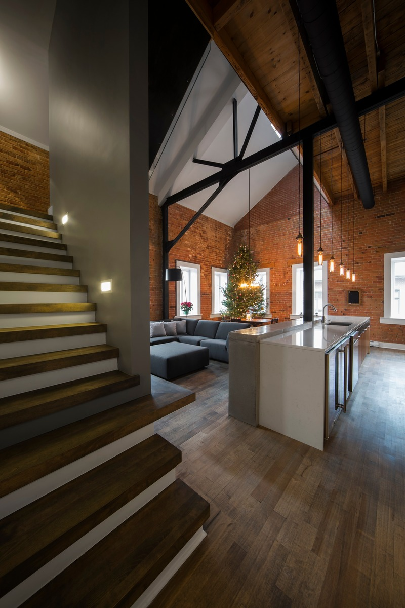 Dossier de presse | 1678-06 - Communiqué de presse | Loft Duvernay - Atelier BOOM-TOWN - Architecture résidentielle - Crédit photo : Steve Montpetit