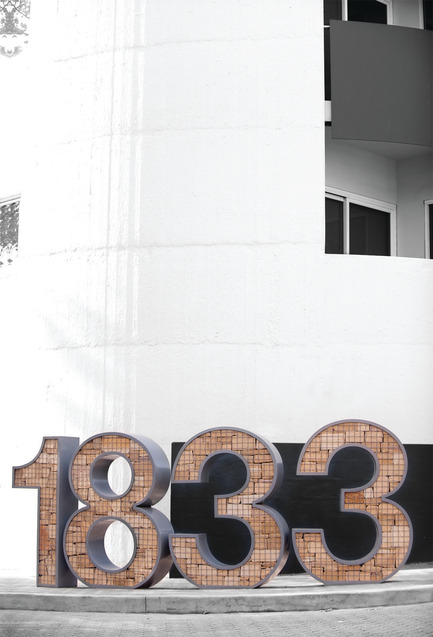 Dossier de presse | 1019-01 - Communiqué de presse | Battery Point Sculpture Trail - Tasmanian design studio - Graphic Design - Powdercoated steel gabions of local sandstone chips represent Salamanca's historic warehouses, the first of which was completed in 1833. - Crédit photo : Jonathan Wherrett