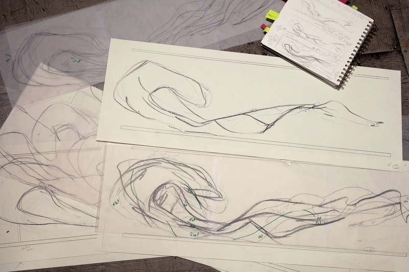 Press kit | 746-05 - Press release | Affluents - Yechel Gagnon - Art - Sketches - Photo credit: Cléo Binette<br>