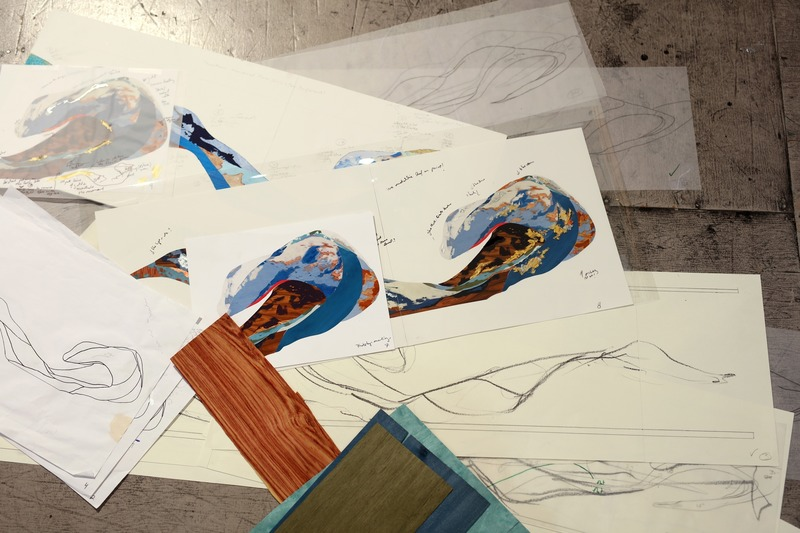 "Press kit | 746-05 - Press release | Affluents - Yechel Gagnon - Art - Sketches &amp; working material<br style=""""> - Photo credit: Cléo Binette<br>"
