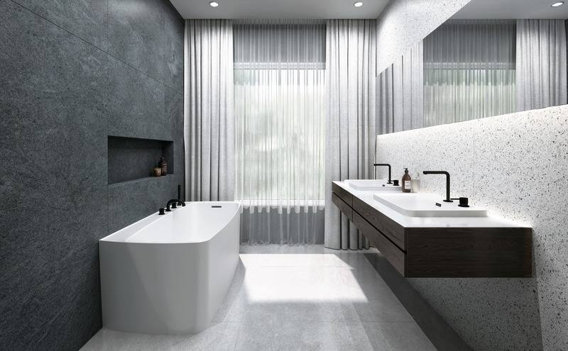 Press kit | 2342-06 - Press release | Relaxation Redefined - WETSTYLE'S fresh new Collections are what Dreams are Made of - WETSTYLE - Industrial Design -   LAB 1 Bathtub & LAB Drop-in Lavatory (Round Series)  - Photo credit:   WETSTYLE