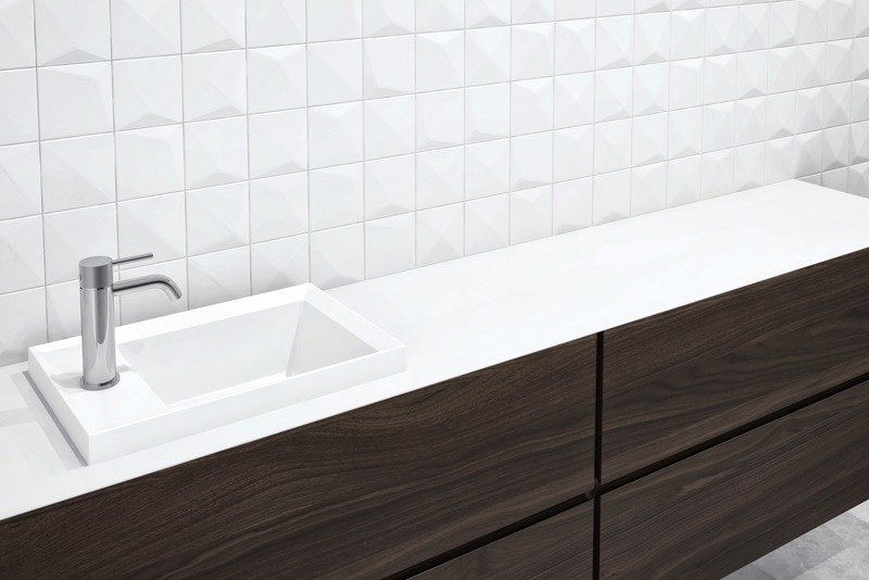 Press kit | 2342-06 - Press release | Relaxation Redefined - WETSTYLE'S fresh new Collections are what Dreams are Made of - WETSTYLE - Industrial Design -  LAB Drop-in Lavatory (Square Series)  - Photo credit: WETSTYLE