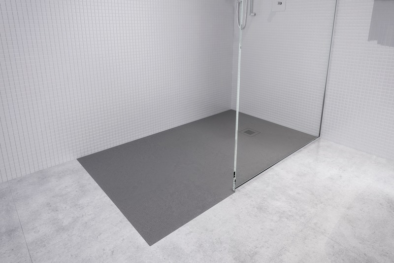 Press kit | 2342-07 - Press release | FEEL the difference: WETSTYLE's collection of customizable shower bases lay textured luxury at your feet - WETSTYLE - Industrial Design -   Shower base FEEL - Recessed installation - Photo credit:  WETSTYLE