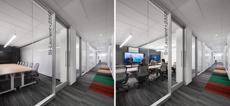 Press kit | 3143-02 - Press release | Genetec Spaces in Montreal: When Design Impacts Processes and Productivity - FOR. design planning - Commercial Interior Design -  Meeting rooms with modular system - open/closed - Photo credit: Stéphane Brugger