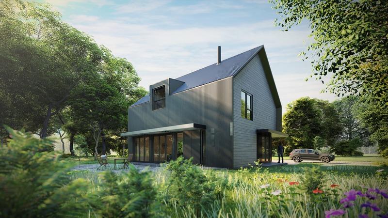 Press kit | 4209-01 - Press release | Kits Écohabitation: Architecture Meets the Prefab Housing Market - Écohabitation - Residential Architecture - Eco-Habitat S1600<br> - Photo credit: PARA-SOL