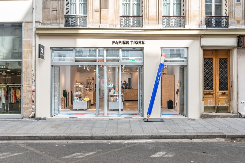 Press kit | 2037-02 - Press release | New Showroom Papier Tigre - Cent15 architecture - Commercial Architecture - Photo credit: Papier Tigre_Cent15 architecture_Caudroy photography