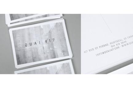 Dossier de presse | 1007-01 - Communiqué de presse | Quai 417 - Quai 417 - Design d'intérieur commercial - Crédit photo : Guillaume Pelletier