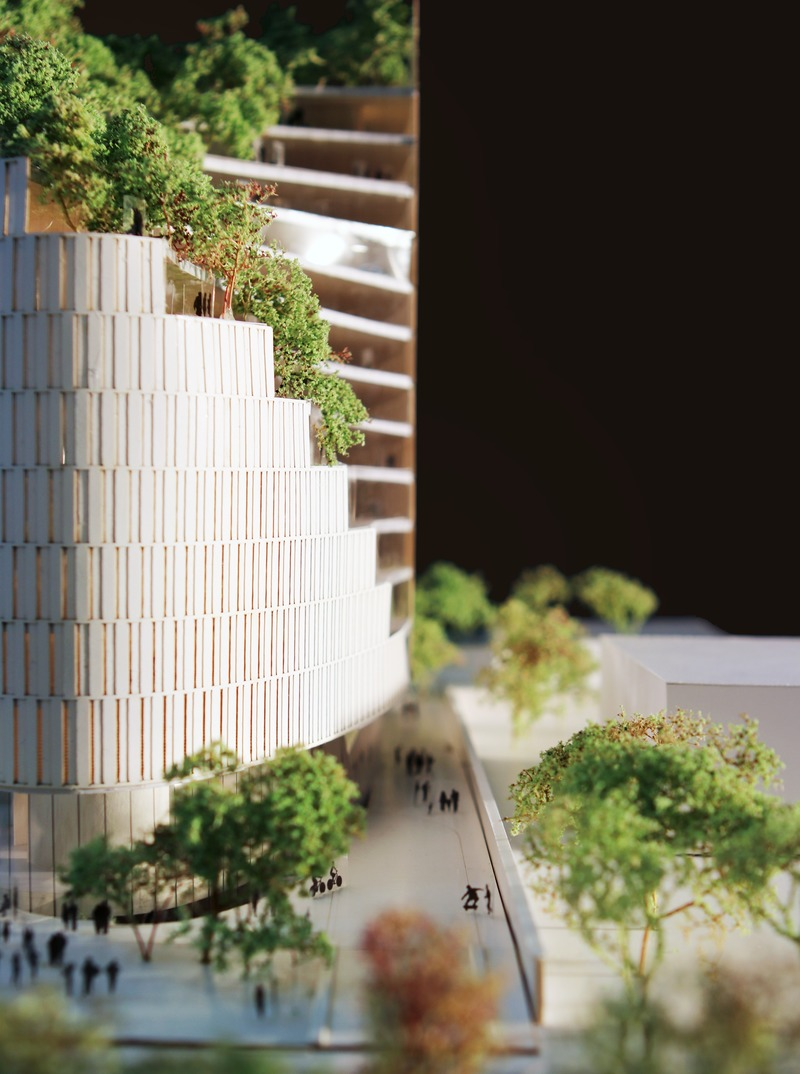 Press kit | 4004-01 - Press release | MET Tirana Residential Building - Mario Cucinella Architects - Residential Architecture -  MET Tirana, Model  - Photo credit: MC A