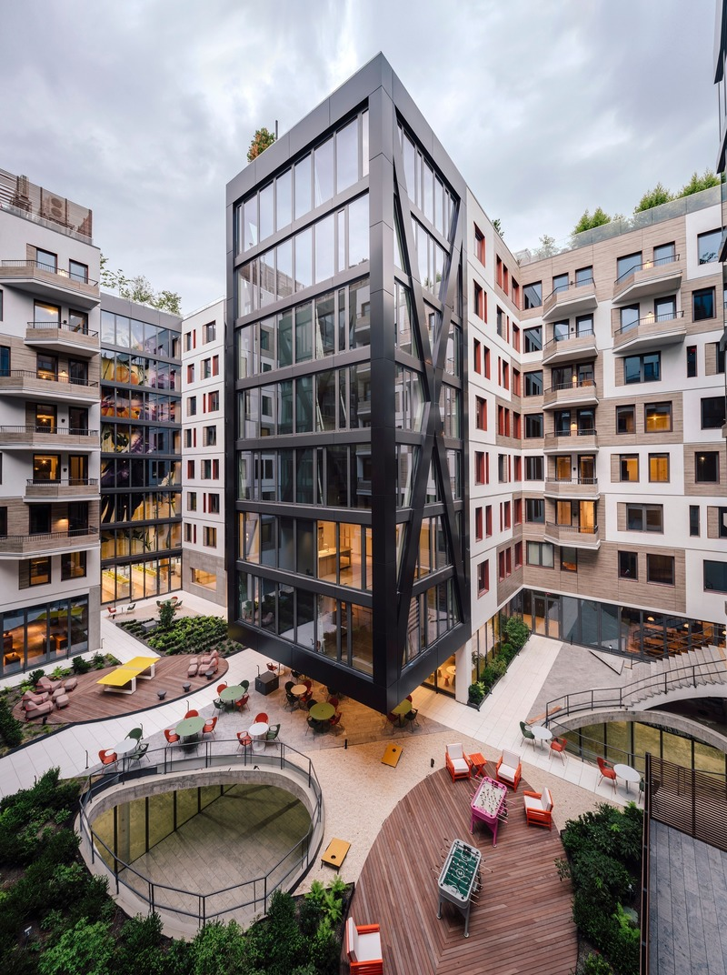 Press kit | 1124-26 - Press release | WINWAN Live 2019: World Architecture News Winners - Haymarket Media Group - World Architecture News - Event + Exhibition -  Denizen Bushwick Phase 1  - Photo credit: ODA New York