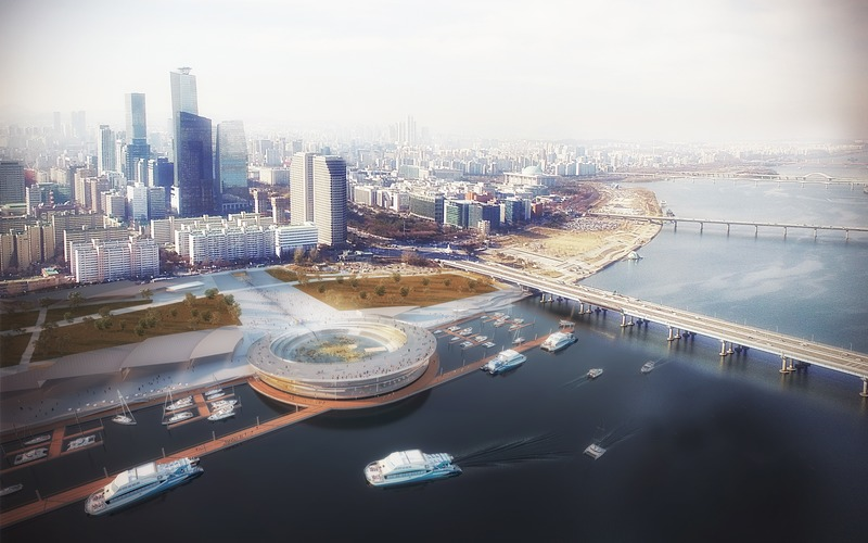 Press kit | 1124-26 - Press release | WINWAN Live 2019: World Architecture News Winners - Haymarket Media Group - World Architecture News - Event + Exhibition -  Seoul Yeoui-Naru Ferry Terminal - Photo credit: Weston Williamson + Partners