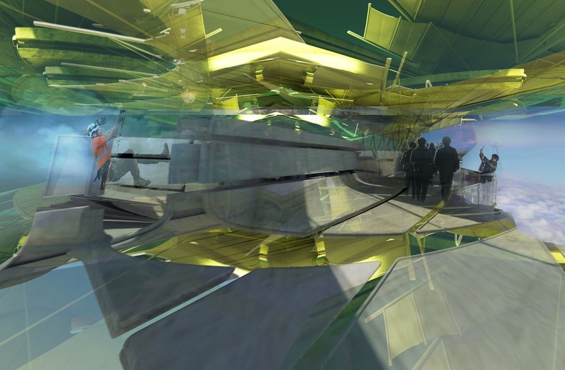 Press kit | 2121-13 - Press release | Piezoelectric pendulum bridge - Margot Krasojević Architects - Landscape Architecture - Inertia bridge Piezoelectric canopy dynamics - Photo credit: Margot Krasojević