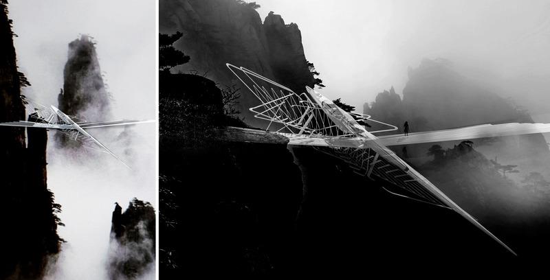 Press kit | 2121-13 - Press release | Piezoelectric pendulum bridge - Margot Krasojević Architects - Landscape Architecture - Tianmen mountain region inertia bridge - Photo credit: Margot Krasojević