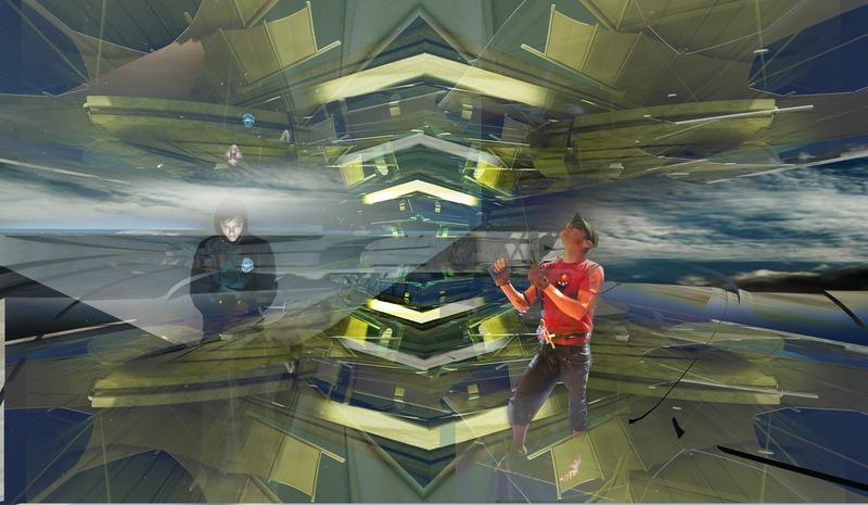 Press kit | 2121-13 - Press release | Piezoelectric pendulum bridge - Margot Krasojević Architects - Landscape Architecture - Reflective photovoltaic canopy, illusory experience - Photo credit: Margot Krasojević
