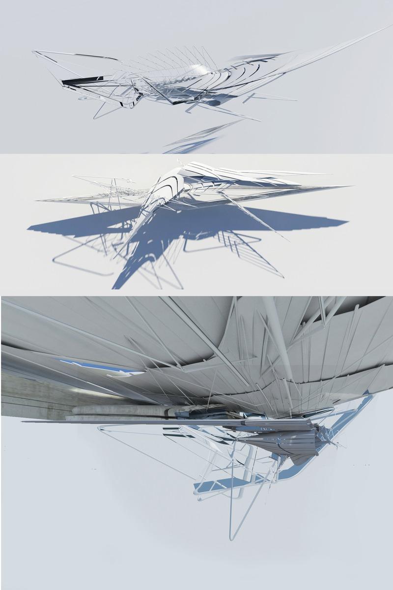 Press kit | 2121-13 - Press release | Piezoelectric pendulum bridge - Margot Krasojević Architects - Landscape Architecture - Choreography of shifting canopy fragments - Photo credit: Margot Krasojević