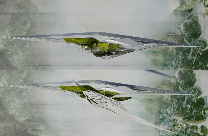 Press kit | 2121-13 - Press release | Piezoelectric pendulum bridge - Margot Krasojević Architects - Landscape Architecture - Canopy pendulum movement maintains stability, plan - Photo credit: Margot Krasojević