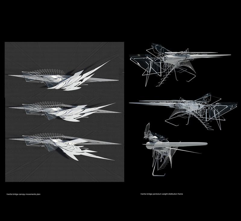Press kit | 2121-13 - Press release | Piezoelectric pendulum bridge - Margot Krasojević Architects - Landscape Architecture - Inertia bridge pendulum weight distribution frame - Photo credit: Margot Krasojević