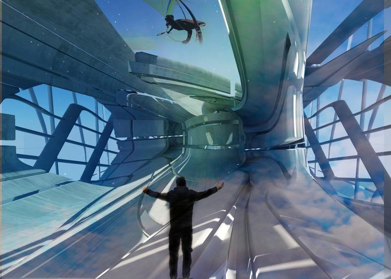 Press kit | 2121-13 - Press release | Piezoelectric pendulum bridge - Margot Krasojević Architects - Landscape Architecture - Observation deck - Photo credit:  Margot Krasojević