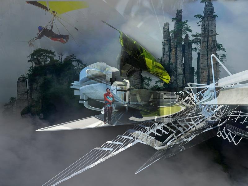 Press kit | 2121-13 - Press release | Piezoelectric pendulum bridge - Margot Krasojević Architects - Landscape Architecture - Hang gliding bridge point - Photo credit: Margot Krasojević