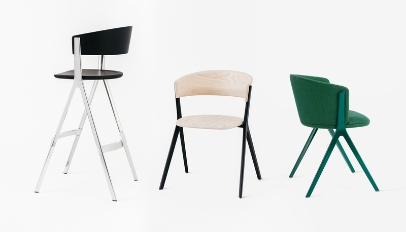 Press kit | 4129-01 - Press release | EDITS -         A New Era of Affordable High-Design - EDITS - Product - EDITS Circus Collection - Barstool, Wood, Upholstered Soft - Photo credit: EDITS 2019