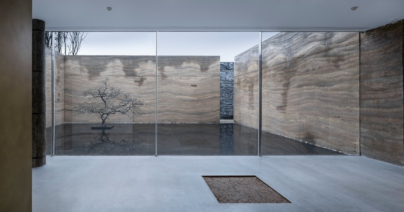 Press kit | 4181-01 - Press release | Greentown Yiwu Peach Blossom Land Living Experience Centre - Hangzhou 9M Architectural Design Co., Ltd. - Event + Exhibition - Large Glass Wall - Photo credit: Li Yao