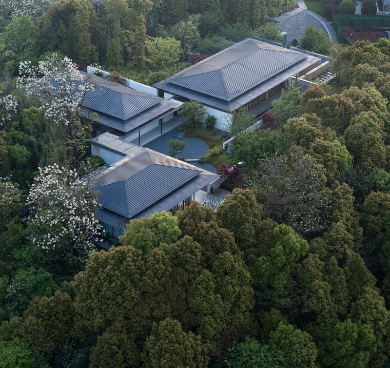 Press kit | 4181-01 - Press release | Greentown Yiwu Peach Blossom Land Living Experience Centre - Hangzhou 9M Architectural Design Co., Ltd. - Event + Exhibition - Aerial View - Photo credit: Li Yao