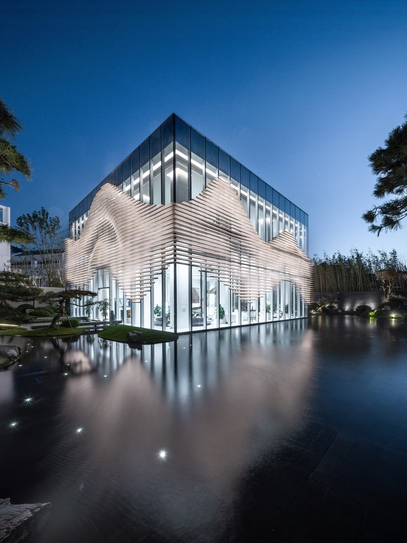 Press kit | 4150-01 - Press release | Shanxiao Sales Pavilion, Chongqing - aoe - Commercial Architecture - Photo credit: Huang Ligang