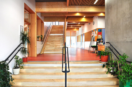 Press kit | 1012-01 - Press release | Groupe scolaire Lamoricière - archi5 - Design d'intérieur institutionnel - Photo credit: Fabien Terreaux