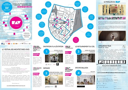 Dossier de presse | 982-02 - Communiqué de presse | Opening of the Festival of Lively Architecture 2012 Tuesday, June 12 - 6:30 p.m. - Association Champ Libre - Festival des Architectures Vives (FAV) - Event + Exhibition - Programmation du FAV - Crédit photo : FAV