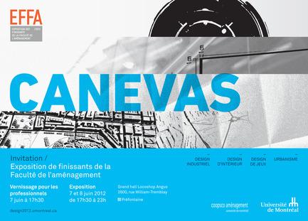 Dossier de presse | 1076-04 - Communiqué de presse | CANEVAS – Exposition de finissants de la Faculté de l'aménagement de l'UdeM - Faculté d'aménagement de l'Université de Montréal - Évènement + Exposition