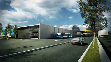 Press kit | 865-03 - Press release | Stinson Transport Center, Montréal Transit Society (STM) - Lemay - Institutional Architecture - Photo credit: Lemay