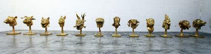 Dossier de presse | 701-07 - Communiqué de presse | Zoo - Musée d'art contemporain de Montréal (MAC) - Event + Exhibition - Circle of Animals/Zodiac Heads: Gold, 2010AI WeiweiBronze à patine doréeCollection particulière, États-Unis