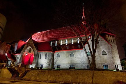 Press kit | 621-17 - Press release | L'église Saint John the Evangelist - Lightemotion - Lighting Design - Photo credit: Martine Doyon